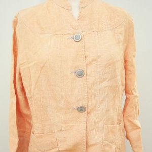 Linen Peach 3 Button light weight Blazer Jacket